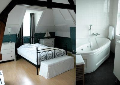 Slaapkamer en badkamer - De Kade Appartementen